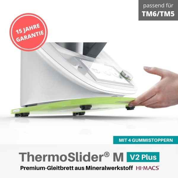 ThermoSlider® M | V2 Plus | Light Green | Premium-Gleitbrett für Thermomix TM6/TM5