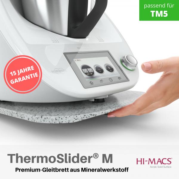 ThermoSlider® M  V1   Grey Sand   Premium-Gleitbrett für Thermomix TM6/TM5