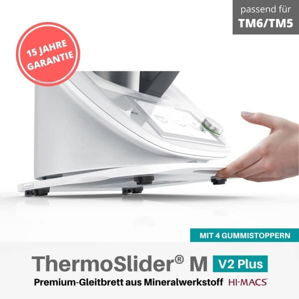 ThermoSlider® M | V2 Plus | Alpine White | Premium-Gleitbrett für Thermomix TM6/TM5